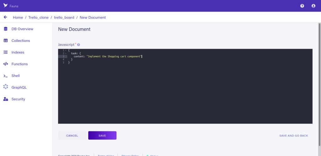 Build A Headless Trello Clone With Fauna SDK, TypeScript, and Vercel CLI 6