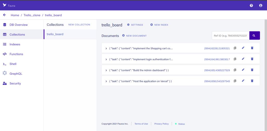 Build A Headless Trello Clone With Fauna SDK, TypeScript, and Vercel CLI 7