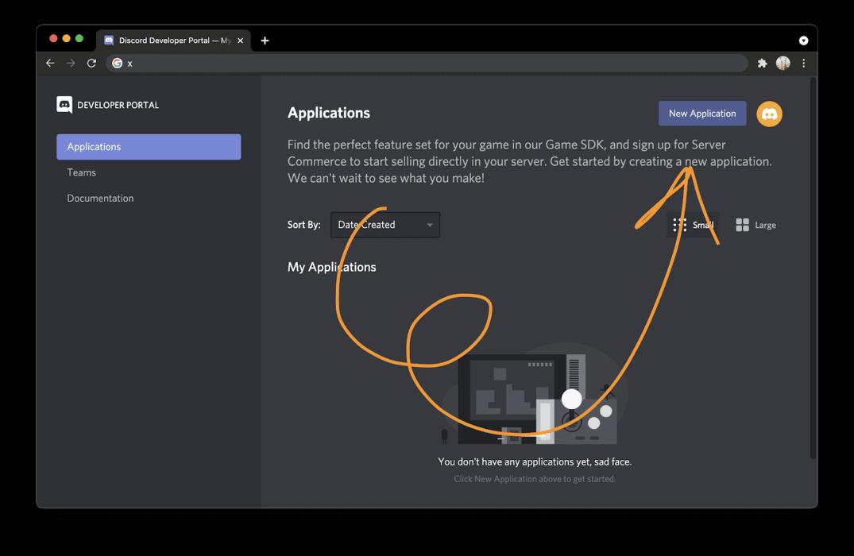 New Discord application